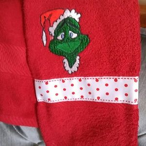 Grinch hand towel